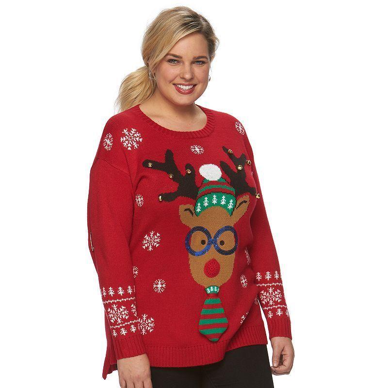 c3bbef4602e Plus Size US Sweaters Christmas Crewneck Sweater