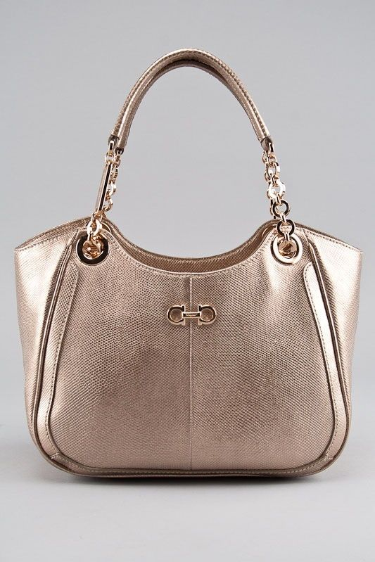 Salvatore Ferragamo Gold Betulla Leather Handbag Handbag Leather Handbags Handbag Heaven