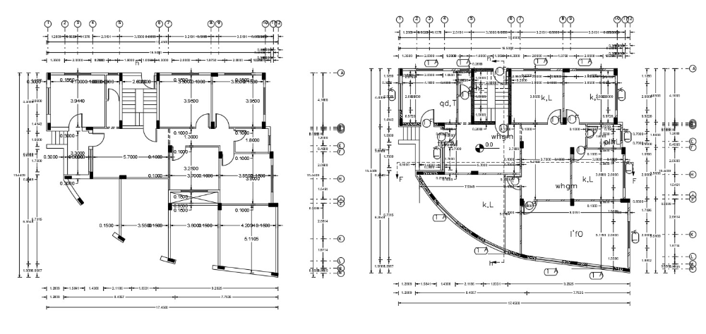 Residential And Commercial Building Working Drawing Plan Dwg Cadbull In 2020 How To Plan Building Design Architecture Plan