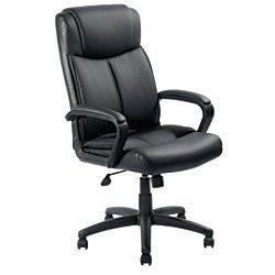 Realspace Crawley Executive High Back Chair Black by Office Depot