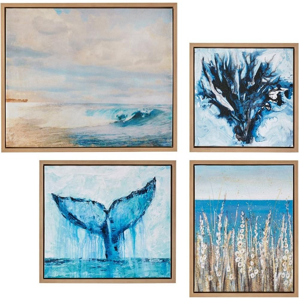 Madison Park Seascape 4 Pc Framed Canvas Wall Art Bealls Florida Framed Canvas Wall Art Canvas Wall Art Set Framed Wall Art Sets