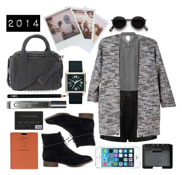 """""""2014 is here"""" by voguedesign ❤ liked on Polyvore featuring NARS Cosmetics, Acne Studios, Monki, Boutique, Steve Madden, Fogal, Alexander Wang, Marc by Marc Jacobs, Band of Outsiders and Abercrombie & Fitch"""