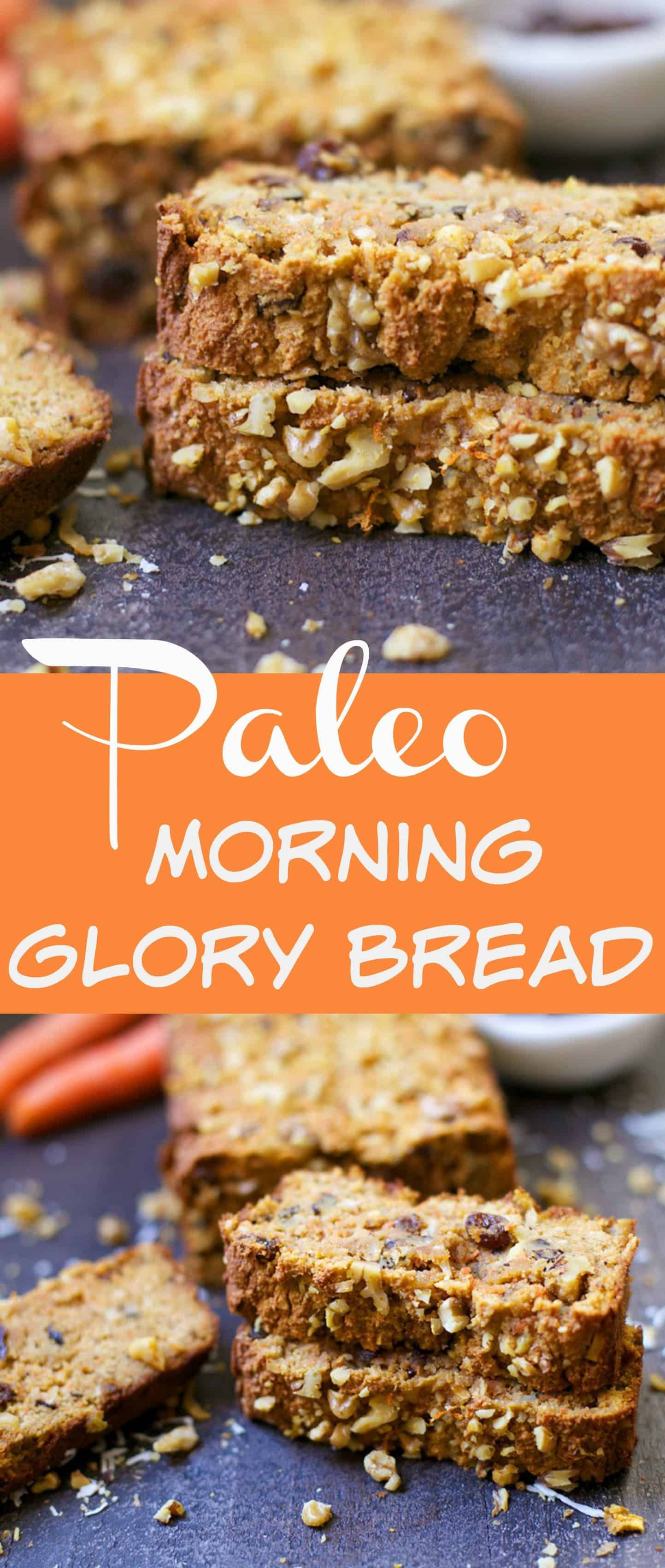 You'll love the moist and dense flavor of this Morning Glory Bread! A perfect breakfast or snack on the go, packed with apples, coconut, carrots, raisins, and walnuts. This bread is grain-free, refined sugar free, and oh so delicious! I would like to introduce you to your new favorite breakfast treat. I am super excited... Get the Recipe