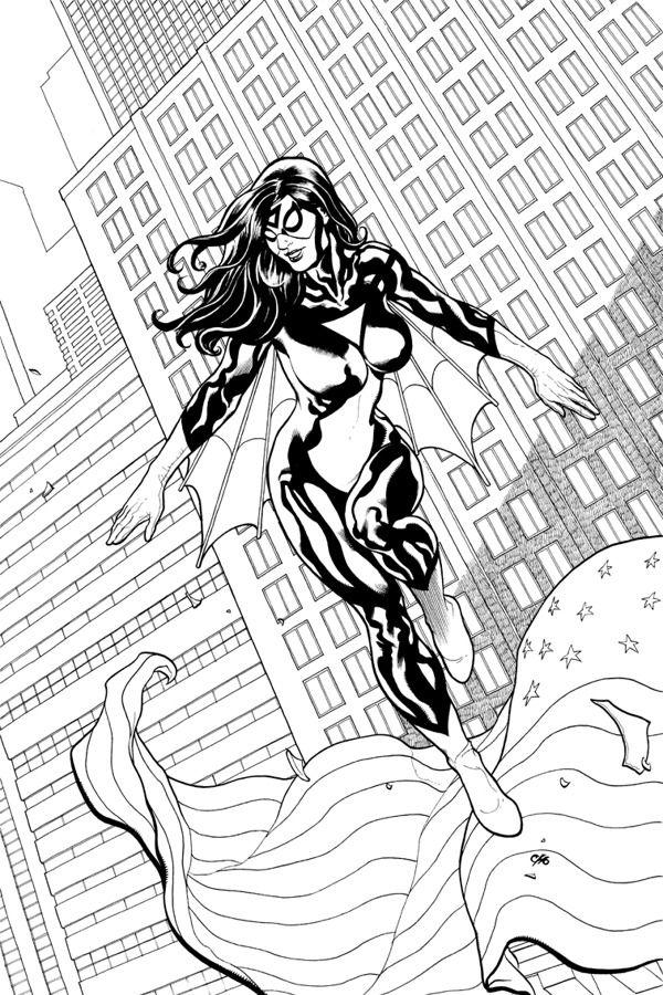 Spider-Woman - Frank Cho   AA2   Frank cho, Comic art community