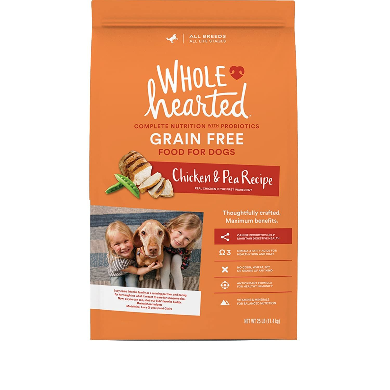 Wholehearted Grain Free All Life Stages Chicken And Pea Recipe Dry Dog Food You Can Find Out More Details In 2020 Grain Free Dog Food Free Dog Food Dog Food Brands