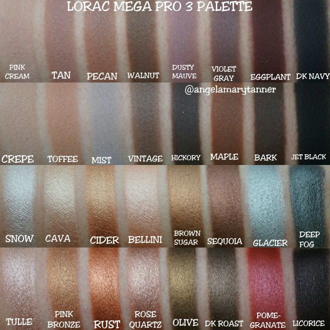 The LORAC MEGA PRO 3 is $59, same as the previous two and is available at ULTA. The palette has 32 shadows, 16 matte and 16 shimmer and a total weight of .45oz, making each pan about .014oz. K…