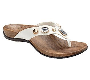 b0e920da798d Vionic Orthotic Embellished Thong Sandals - Eve