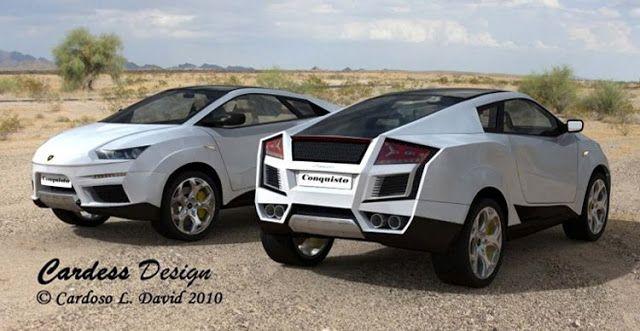 Lamborghini Conquisto Designer Envisions A Two Door Rear Engine Lambo Suv Crossover