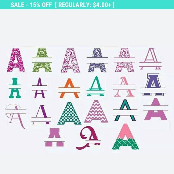 Monogram car decal vinyl name yeti decal sticker personalized decal split alphabet