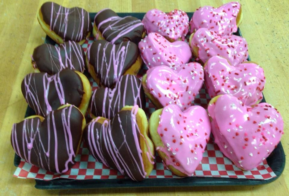 Wuollet Bakery: Heart-shaped Donuts! Back by popular demand, heart donuts will be in the stores now through Valentine's Day!