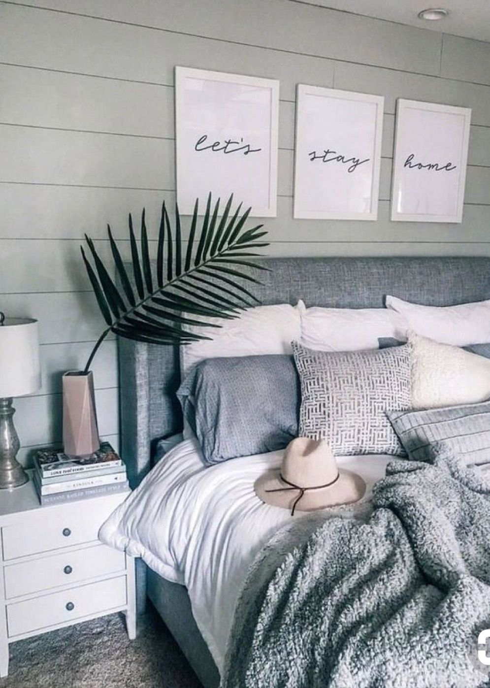Grey Headboard White And Grey Theme Home 2019 Pinterest