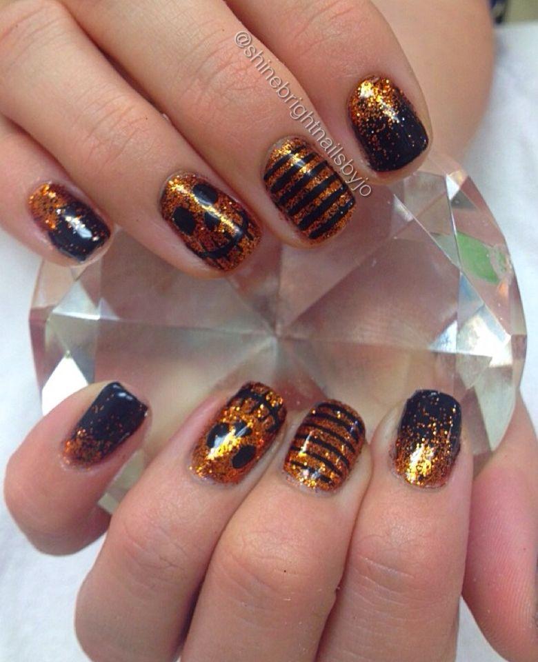 Glitter Halloween nails