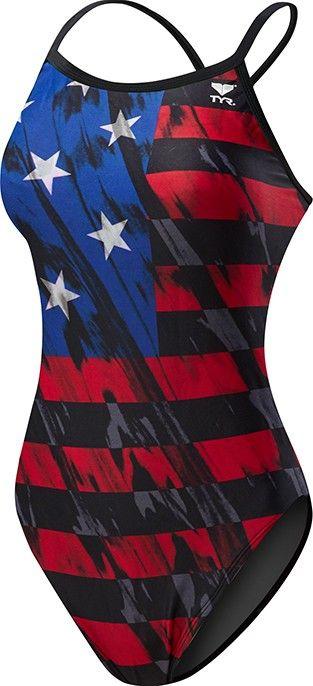 Women's TYR USA Valor Diamondfit Swimsuit | TYR