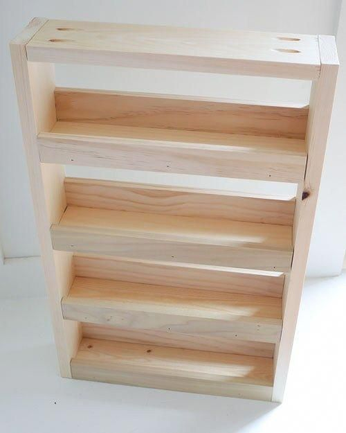 Wall Mounted Wooden Spice Rack Plans: Wall Spice Rack, Diy Spice Rack