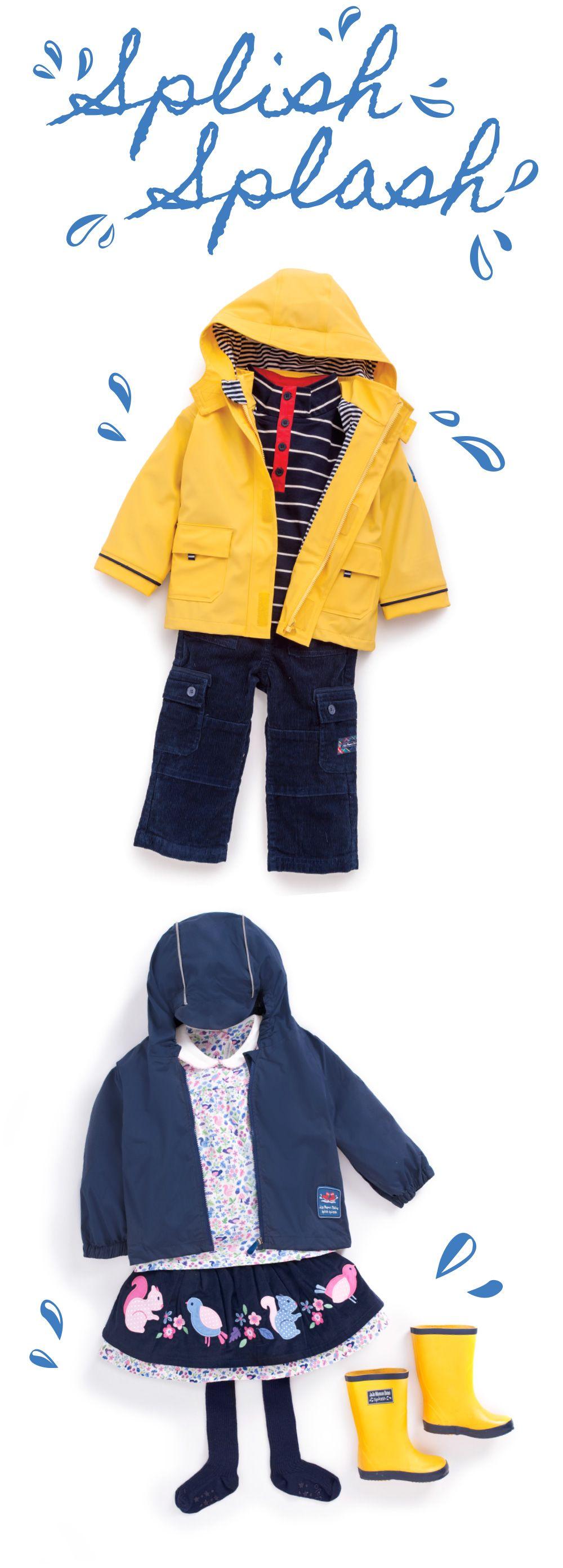 JoJo Maman Bebe Splish Splash Rainwear #raincoat #rainjacket #children
