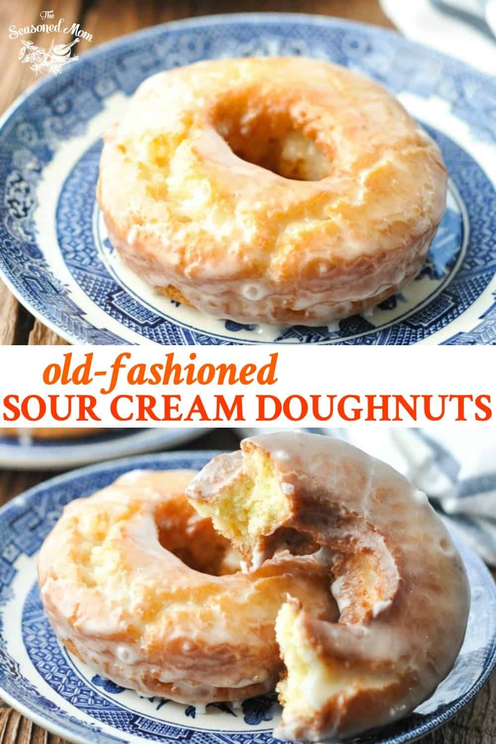 Old Fashioned Donuts Recipe In 2020 Sour Cream Donut Homemade Doughnuts Delicious Donuts