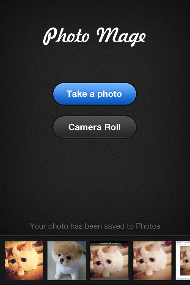 Photo Mage App iPhone Picture Camera. You can browse