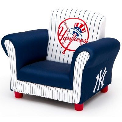 e7f57ceb12cfd MLB New York Yankees Kid's Upholstered Chair - Delta Children ...