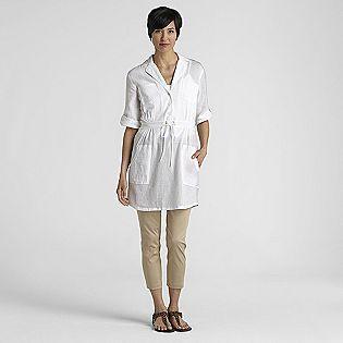 $6 Kmart  S & L only cotton  Jaclyn Smith Women's Gauzy Safari Shirt