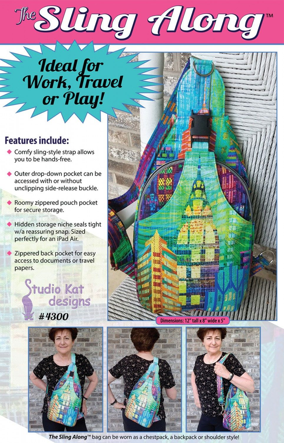 Sling Along Bag sewing pattern from Studio Kat Designs -   16 diy bag sling