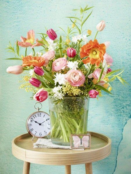 Frhlingsblumen Sechs Strue zum selber binden  Blumen und Pflanzen  Blumen Blumenstrau