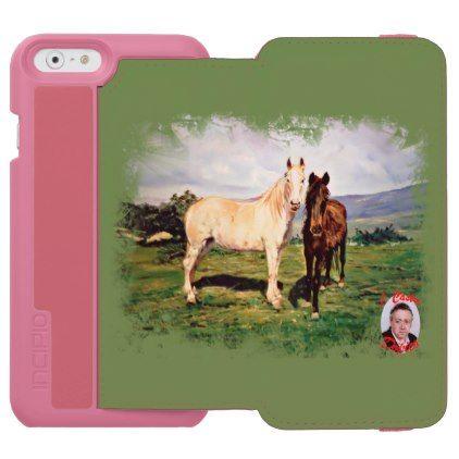 Horses/Cabalos/Horses iPhone 6/6s Wallet Case - horse animal horses riding freedom