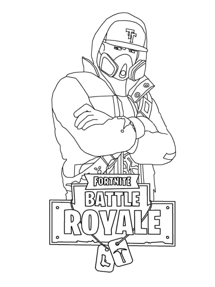 Fortnite Coloring Pages Abstract