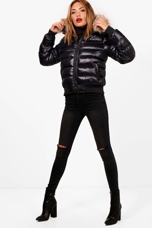 HTOOHTOOH Mens Winter Puffer Coat Casual Faux Fur Hooded Warm Outwear Jacket 2 M