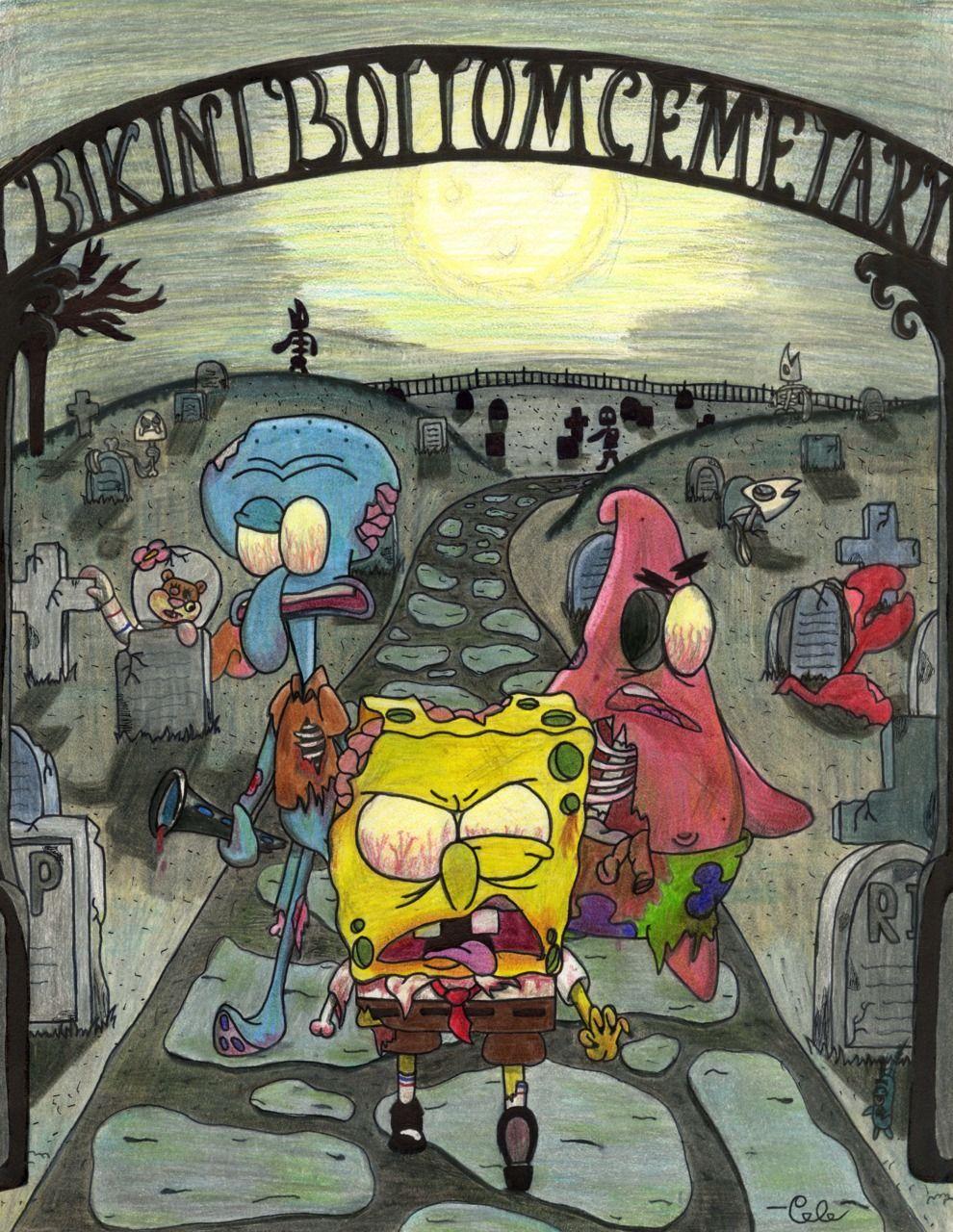 Wallpaper Spongebob Zombie Bestpicture1 Org