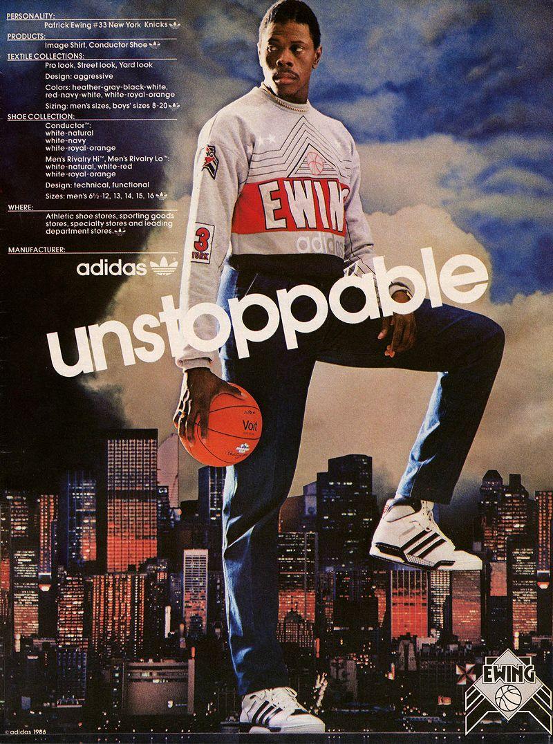 Ewing Adidas Unstoppable Adidas Poster Adidas Ad
