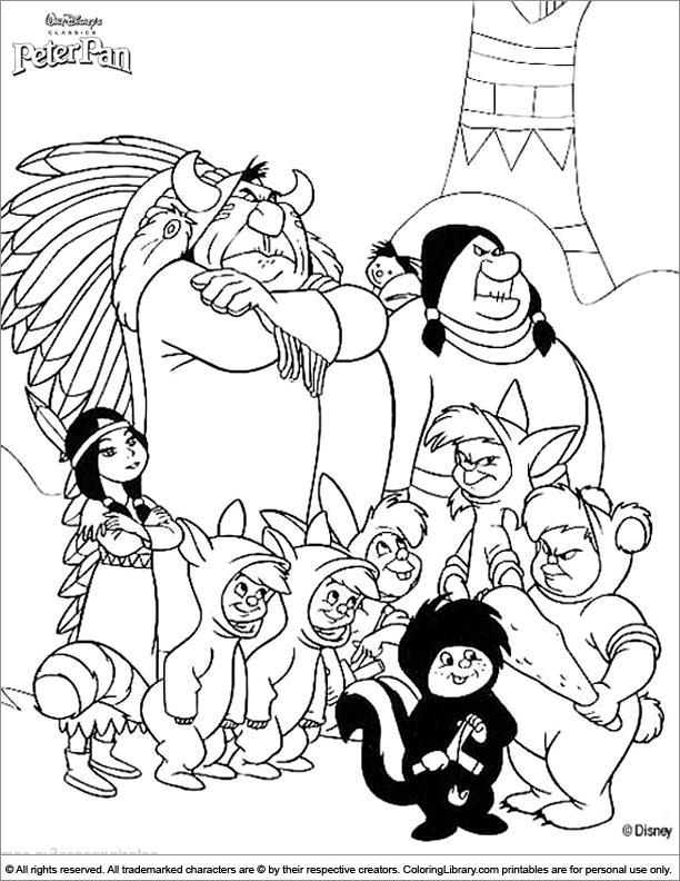 peter pan mermaid coloring pages - photo#7