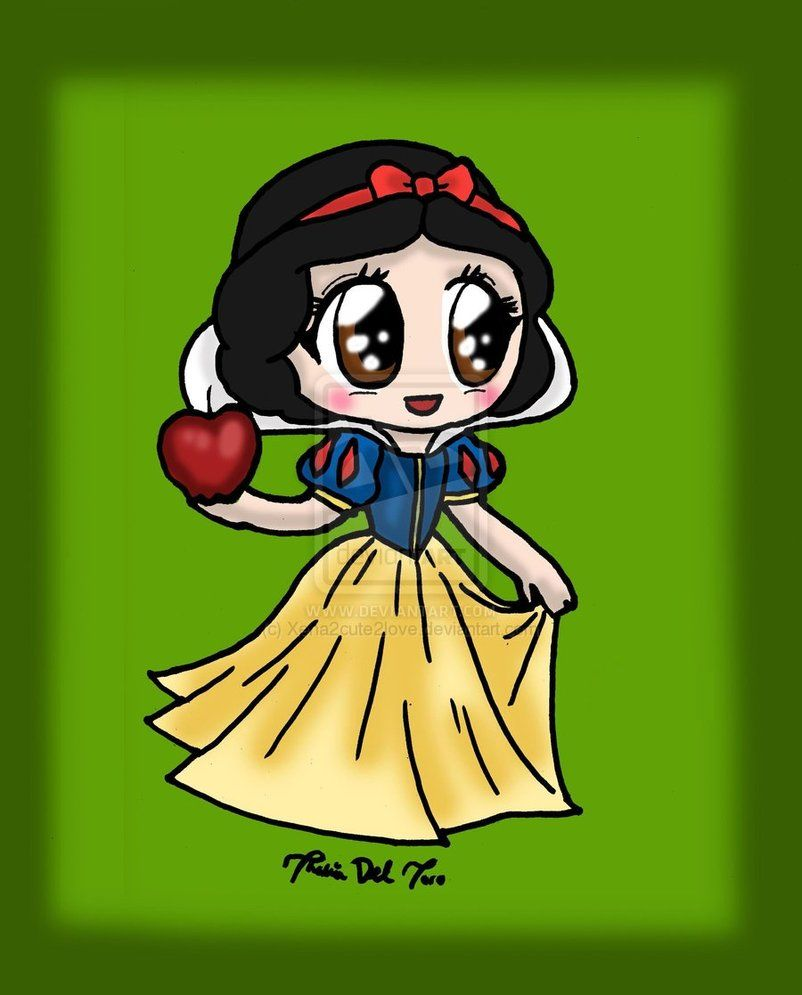 Ausmalbilder Tinkerbell Ein Sommer Voller Abenteuer : Chibi Snow White Chibi Snow White By Xena2cute2love Manga Anime