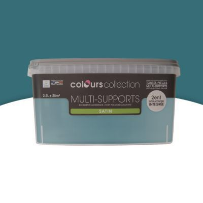 Peinture multi-supports COLOURS Collection scarabée satin 2,5L