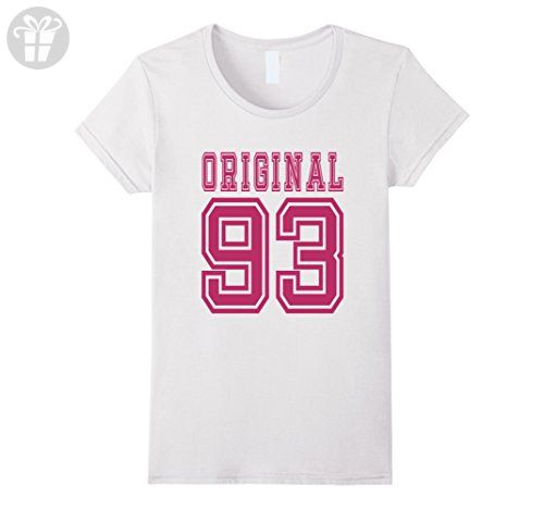 Womens 1993 T Shirt 24th Birthday Gift 24 Year Old Girl B Day Cute Large White