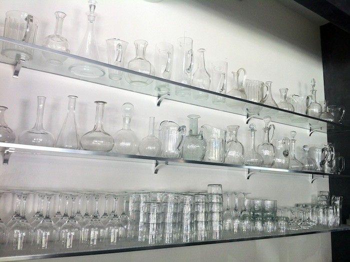 Harlem\'s Most Fashionable Restaurant? | Glass shelves, Shelves and ...