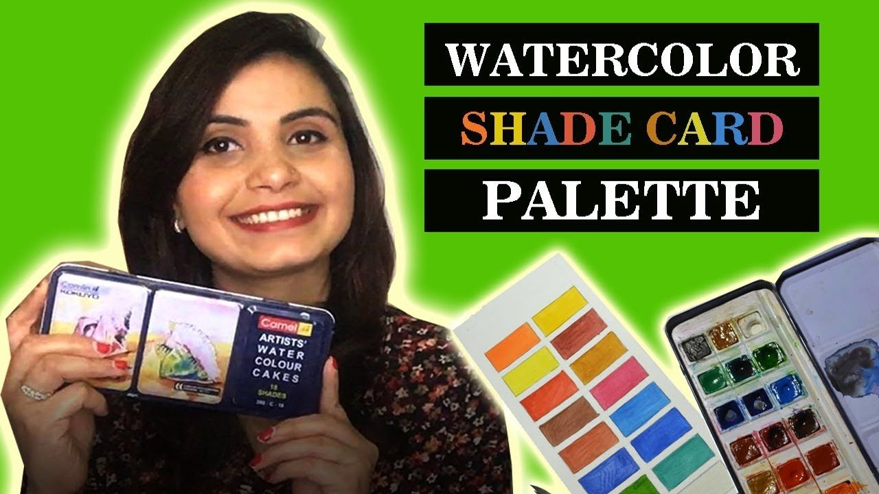 Eng Sub Camlin Watercolor Cakes Review In Hindi My Color Palette