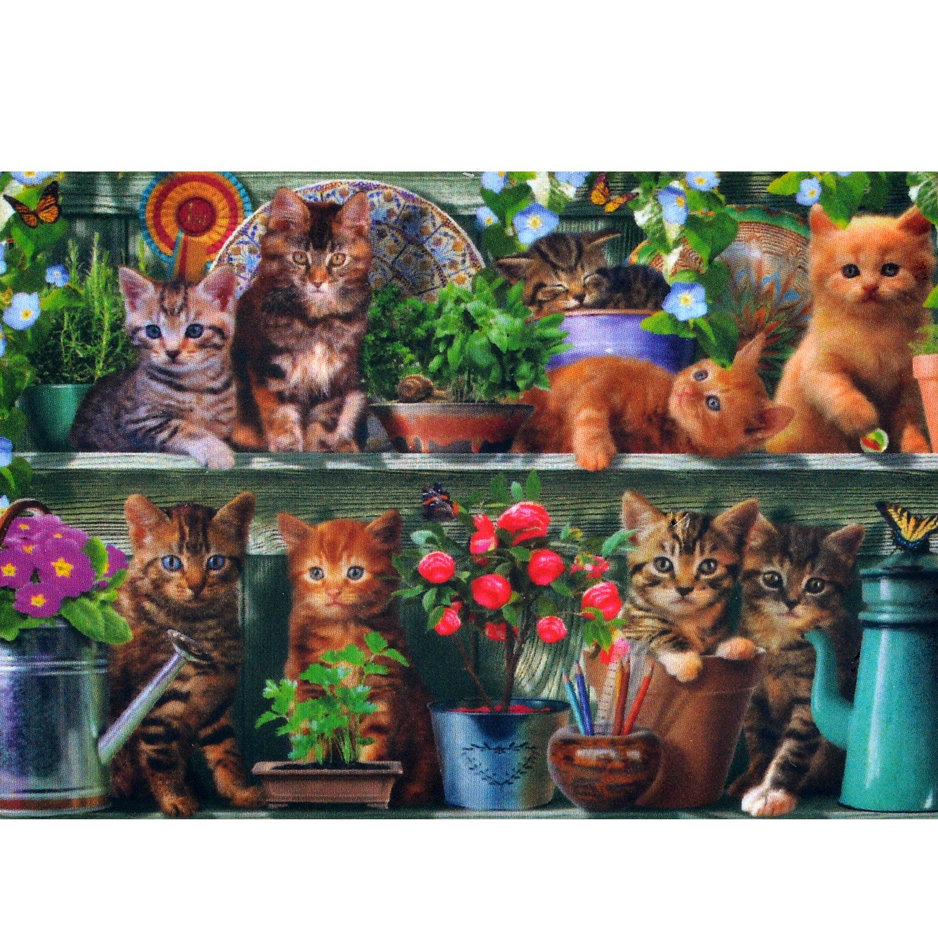 Pzel Hudozhestven Wentworth Kitchen Cats 40 Chasti Hobi Art Wentworth Wooden Puzzles Cat Painting Cat Art Print