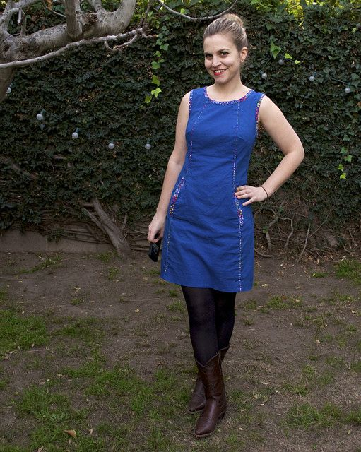 Victory Patterns Chloe Dress. Love the piping.