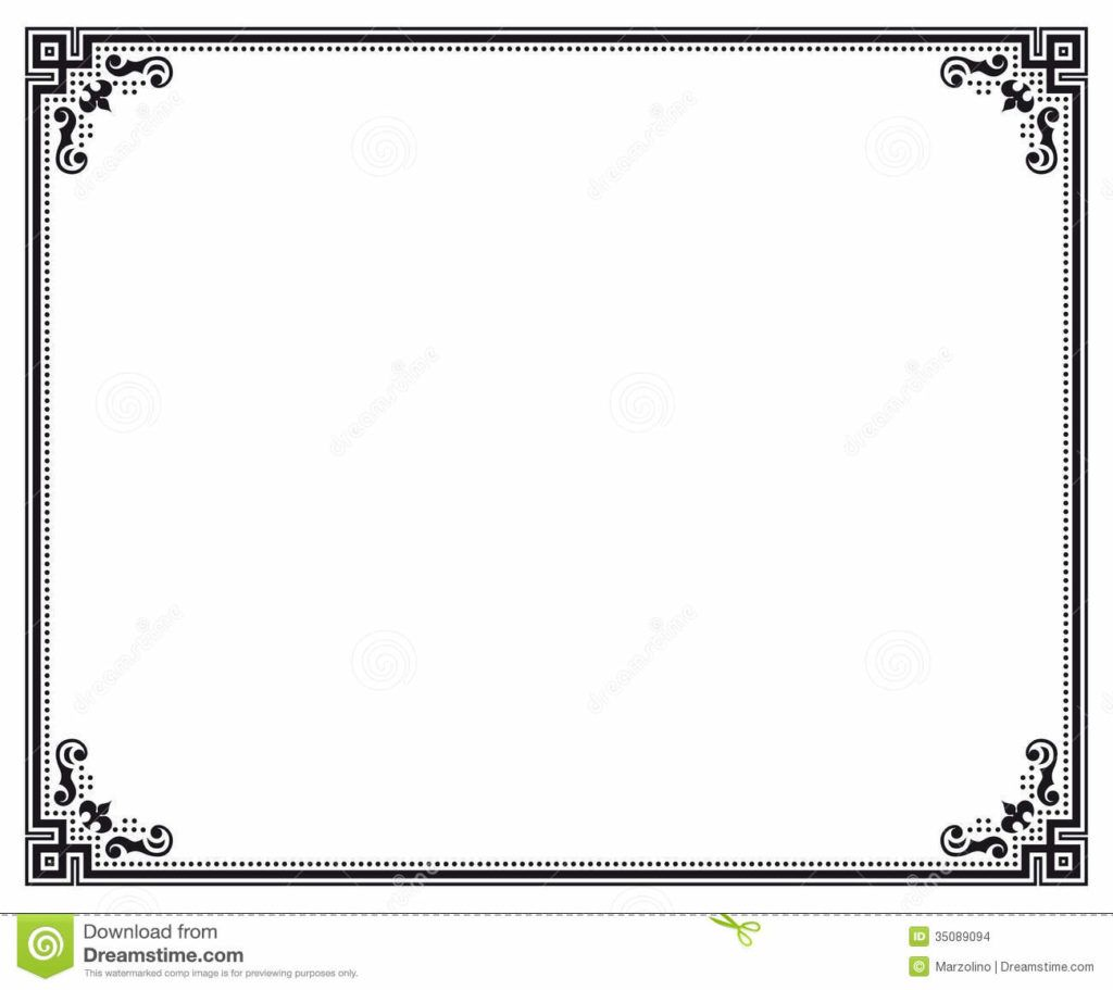 Divine Certificates Border Designs Certificate Border Letter Sized
