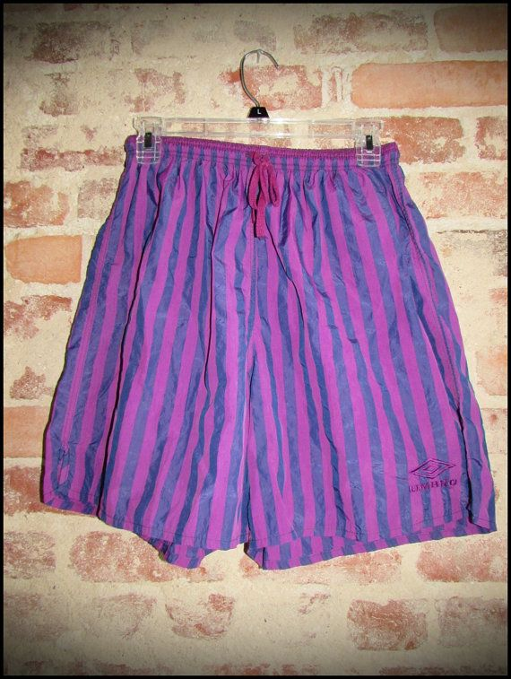 Vintage 90's Purple Striped Umbro Nylon Shorts by RackRaidersVintage, $20.00