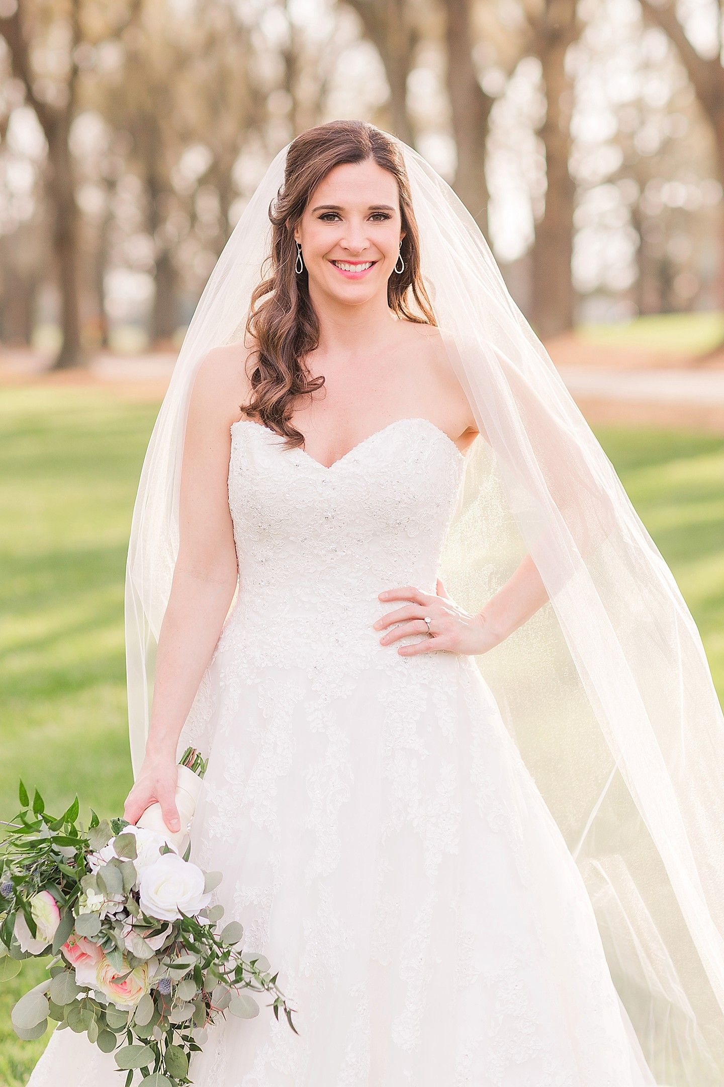 Amy's wedding dress  Amy Bridals at Furman University  Jennifer Stuart Photography