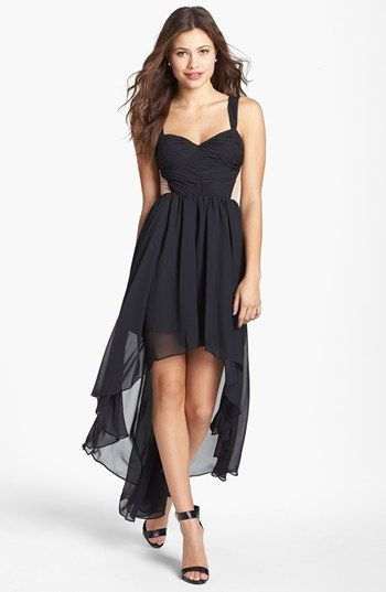 Hailey Logan Contrast Panel High/Low Dress (Juniors) available at ...