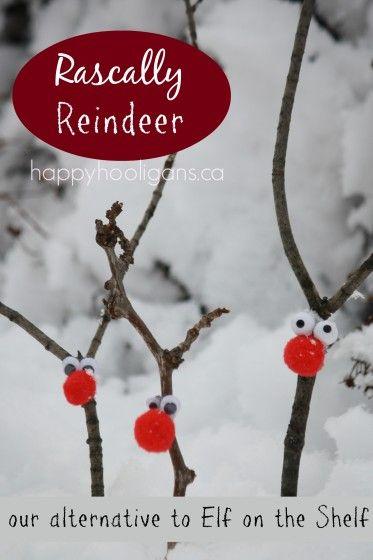 rascally reindeer a fun alternative to elf on the shelf. Black Bedroom Furniture Sets. Home Design Ideas