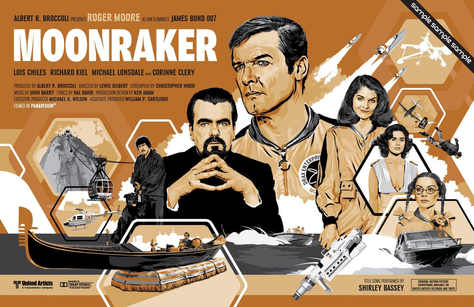 James Bond 007 Roger Moore Moonraker Updated Fan Art 17