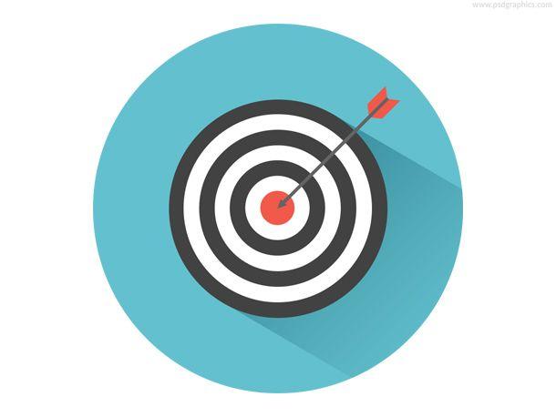 Dart On Target Icon Psd Psdgraphics Arrows Graphic Arrow Illustration Bullseye