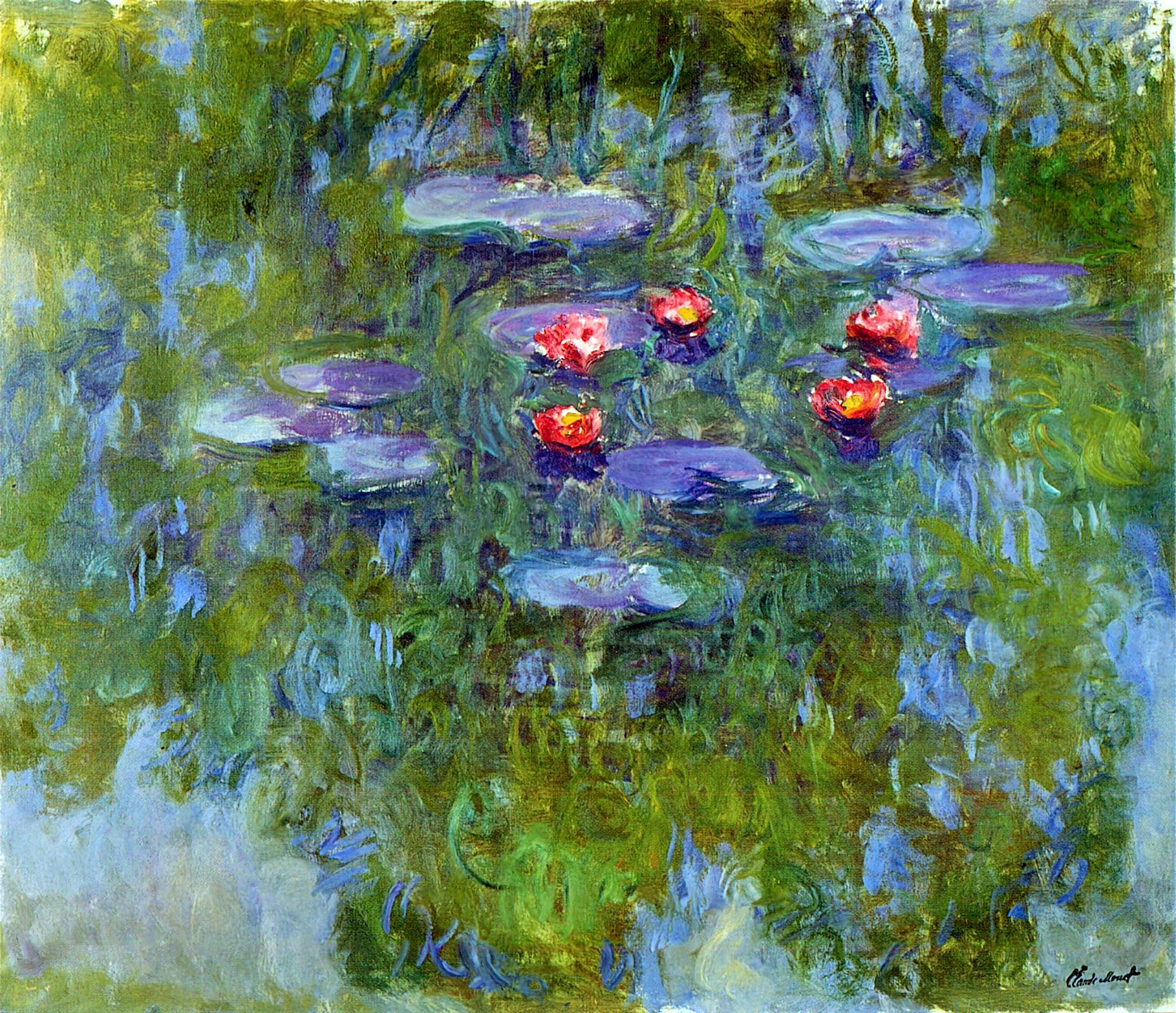 Monet Water Lilies Painting | Water Lilies | Monet ...