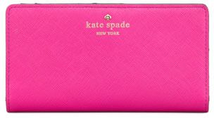 Pink Kate Spade Cherry Lane Lacey Wallet on my Wish List #NationalHandbagDay