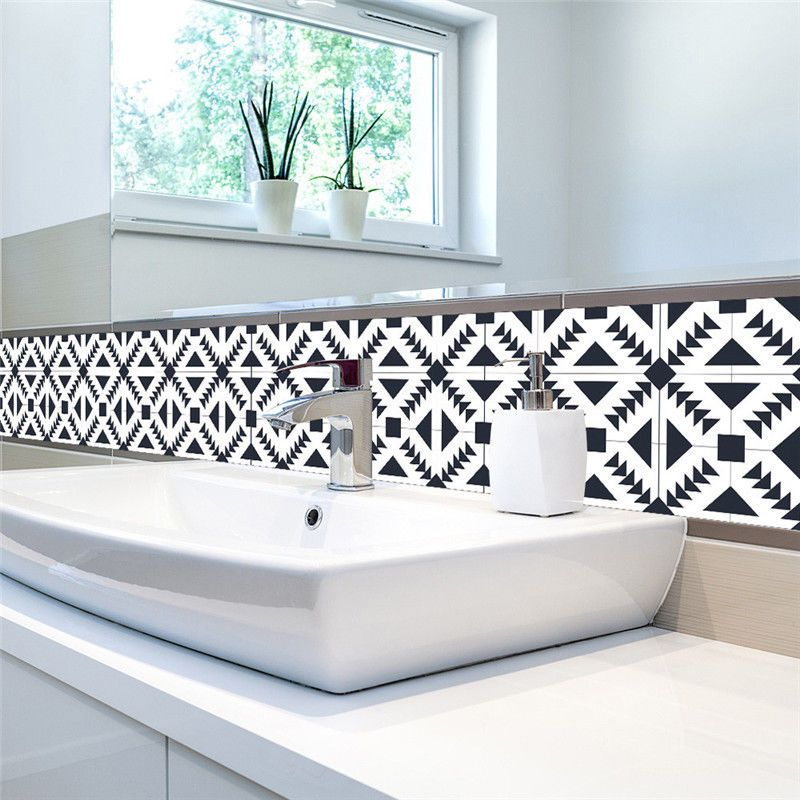 Tile N Decor Self Adhesive Diy Tile Art Wall Decal Sticker For Bathroom Kitchen
