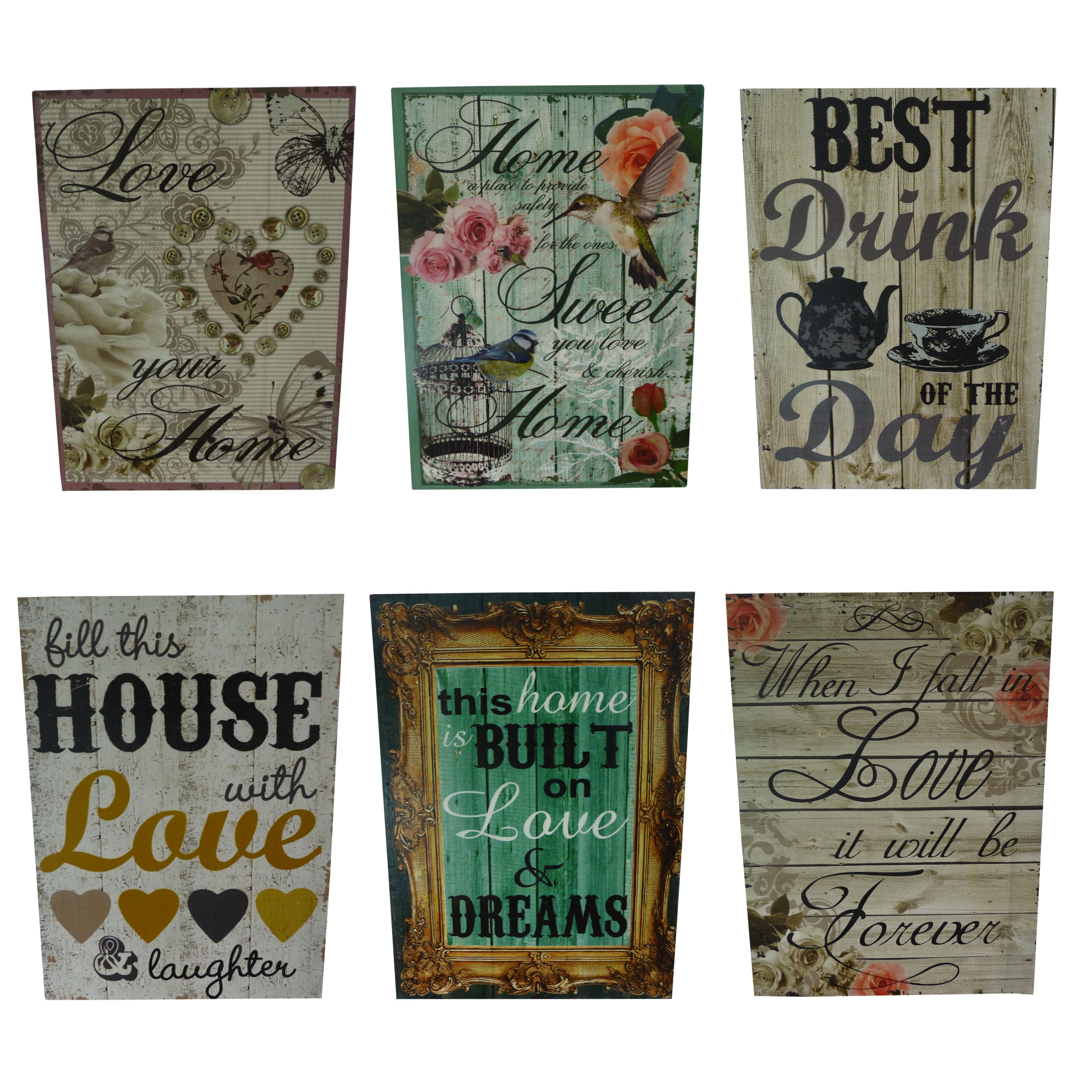 Retro kitchen wall art - Vintage Retro Wood Wooden Rectangle Wall Art Message Plaque Sign