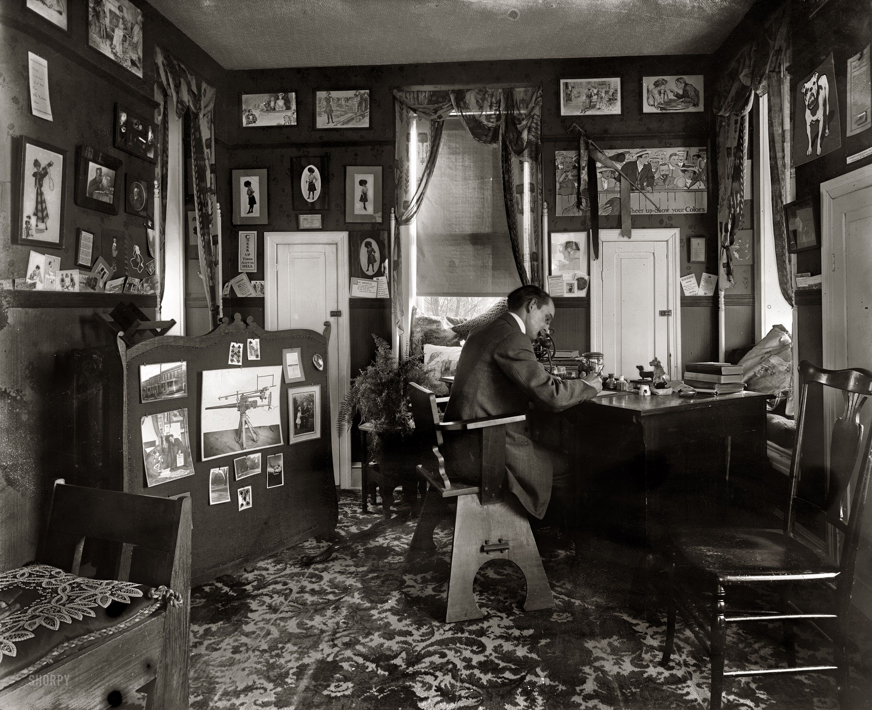 Shorpy Historical Photo Archive :: Home Office: 1920